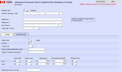 NR4 - Amounts Paid or Credited to Non-Residents of Canada - CRA ...